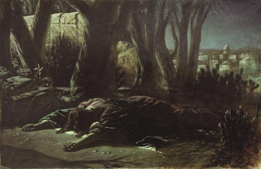 garden Jesus prostrate