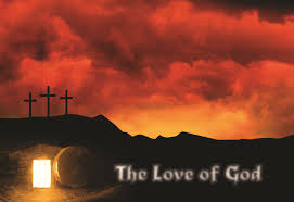 Love of God cross and tomb