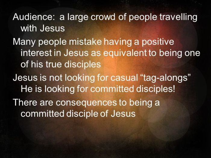 There are consequences to being a committed disciple of Jesus .